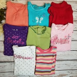 Baby Girls 24 Month Long Sleeve Bodysuits Lot